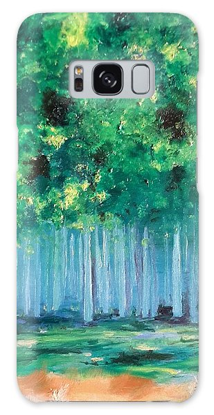 Enchanted Poplars Galaxy Case