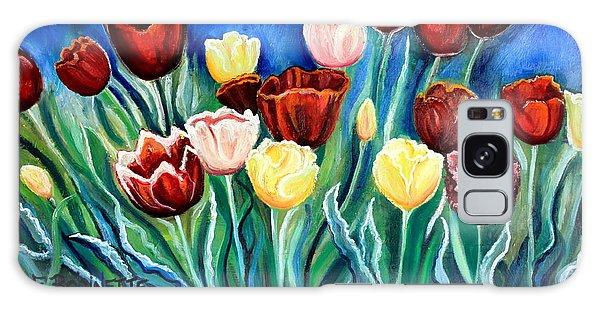 Enchanted Tulips Galaxy Case