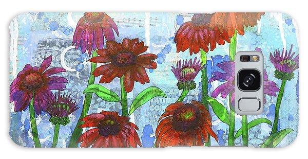 Enchanting Echinacea Galaxy Case