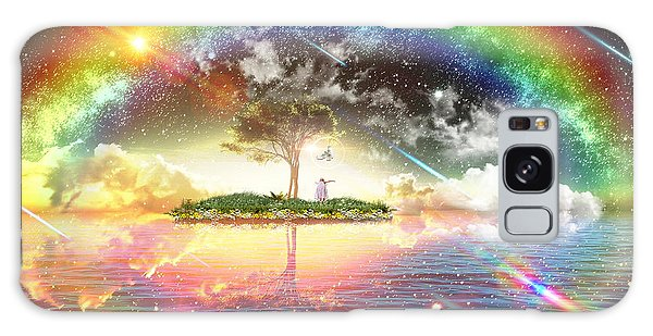 Encountering The Holy Spirit Galaxy Case by Dolores Develde