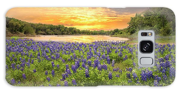 End Of A Bluebonnet Day Galaxy Case