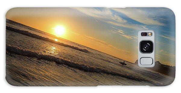 End Of Summer Sunset Surf Galaxy Case