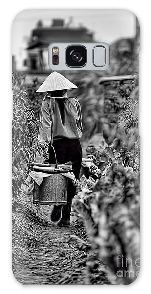 End Of The Day Vietnamese Woman  Galaxy Case by Chuck Kuhn