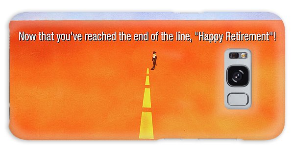 End Of The Line Greeting Card Galaxy Case