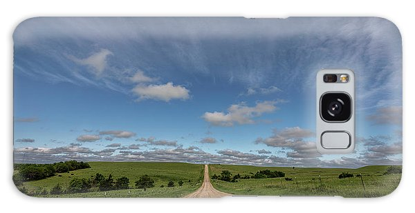 Galaxy Case featuring the photograph Endless Country Road by Scott Bean