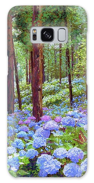 Blossoms Galaxy Case - Endless Summer Blue Hydrangeas by Jane Small