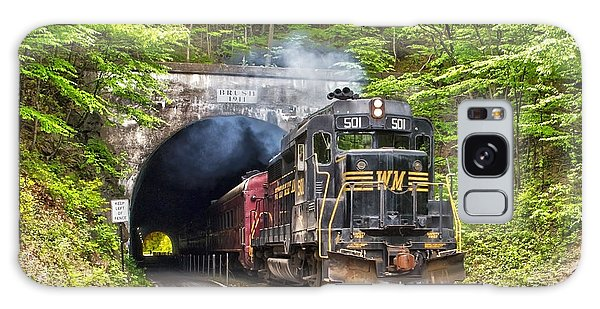 Engine 501 Coming Through The Brush Tunnel Galaxy Case