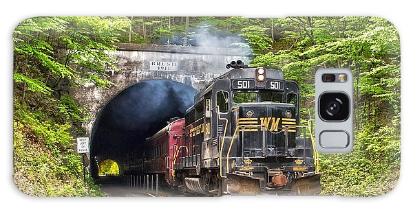 Engine 501 Coming Through The Brush Tunnel Galaxy Case by Jeannette Hunt