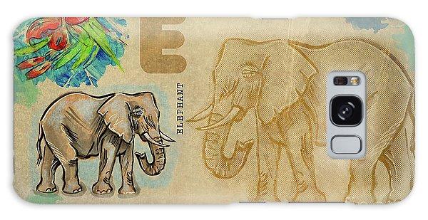 English Alphabet , Elephant Galaxy Case