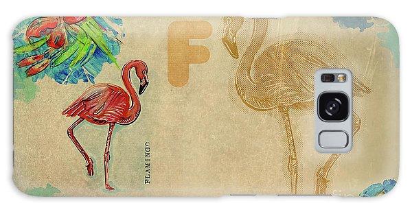 English Alphabet , Flamingo Galaxy Case