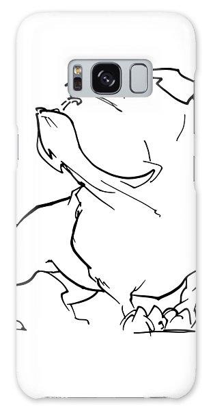 English Bulldog Gesture Sketch Galaxy Case