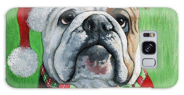 Holiday Cheer -english Bulldog Santa Dog Painting Galaxy Case