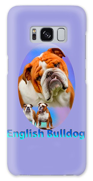 English Bulldog With Border Galaxy Case