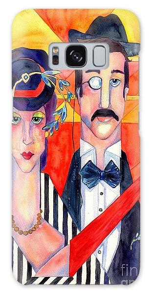 English Galaxy Case - English Couple by Suzann Sines