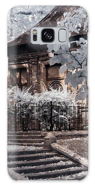 English Garden House Galaxy Case