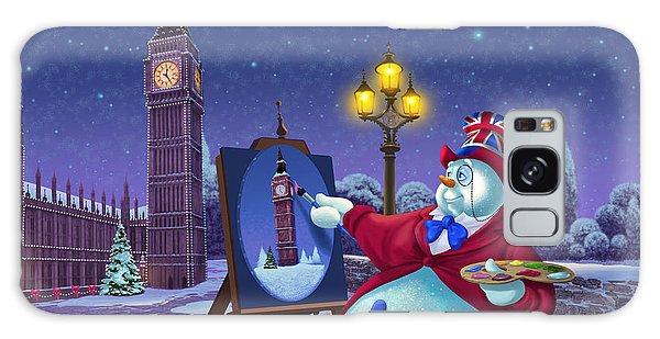 English Snowman Galaxy Case