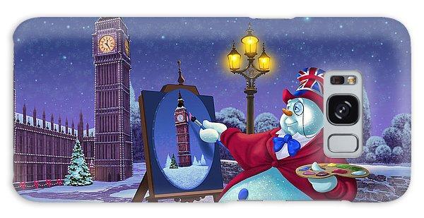 English Snowman Galaxy Case by Michael Humphries