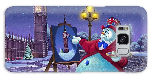 Big Ben Galaxy S8 Case - English Snowman by Michael Humphries