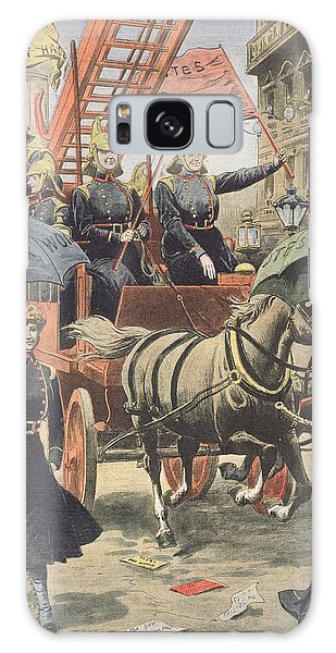 Cart Galaxy Case - English Suffragettes Dressed As Firemen by French School