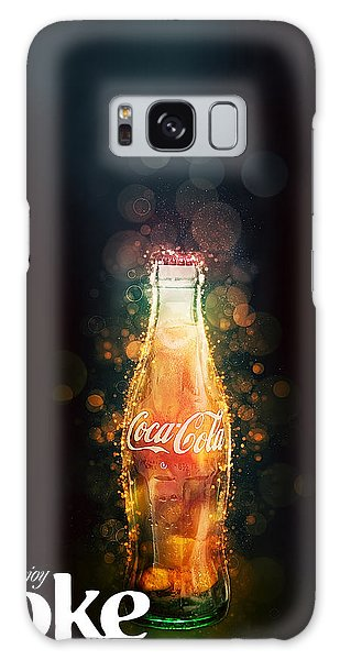 Galaxy Case featuring the photograph Enjoy Coca-cola With Bubbles by James Sage