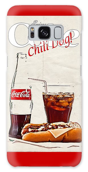 Galaxy Case featuring the photograph Enjoy Coca-cola With Chili Dog by James Sage