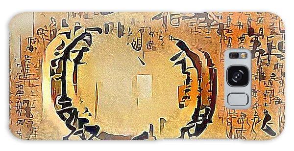Buddhism Galaxy Case - Enso Calligraphy  by Marianna Mills