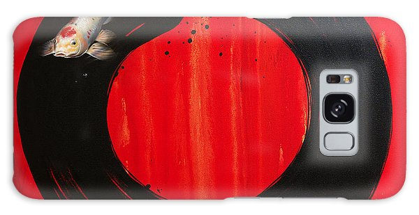 Enso With Koi Red And Gold Galaxy Case