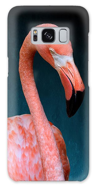 Entirely Unimpressed Flamingo Galaxy Case