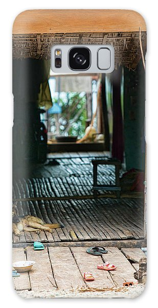 Entrance To Tonle Sap Home  Galaxy Case by Chuck Kuhn