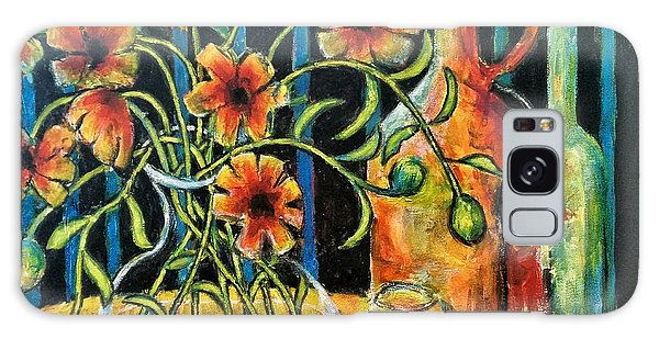 Entwining Poppies Galaxy Case
