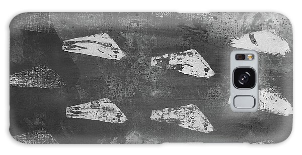 Galaxy Case featuring the painting Eoliths Grayscale by Robin Maria Pedrero