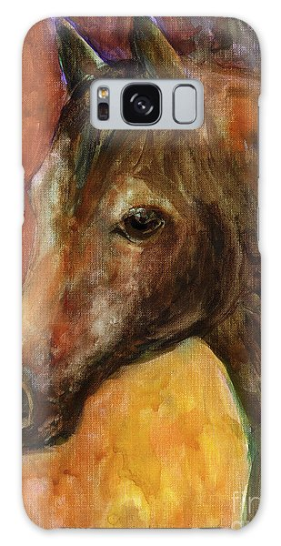 Watercolor Pet Portraits Galaxy Case - Equine Horse Painting  by Svetlana Novikova