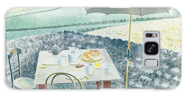 Architecture Galaxy Case - Eric Ravilious 1903-1942 - 	Tea At Furlongs	 by Ulrika Sun