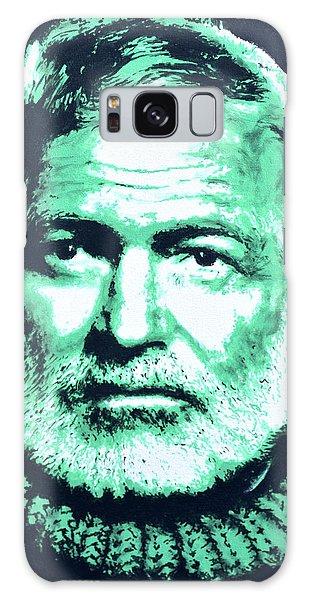 Ernest Hemingway Galaxy Case by Victor Minca