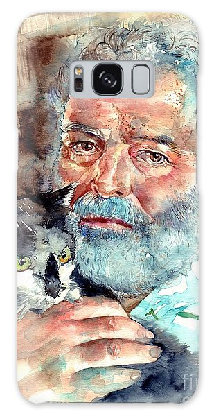 Old Florida Galaxy Case - Ernest Hemingway Watercolor by Suzann Sines