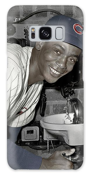 Ernie Banks At Cubs Water Fountain Galaxy Case