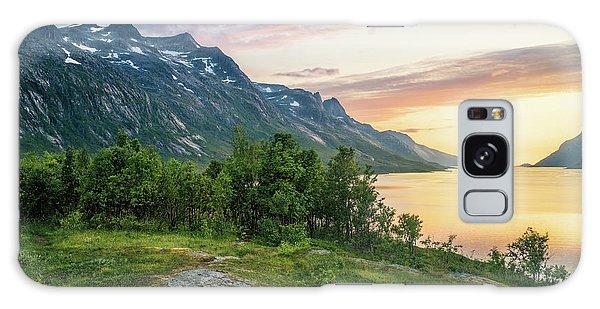 Ersfjord Sunset Galaxy Case