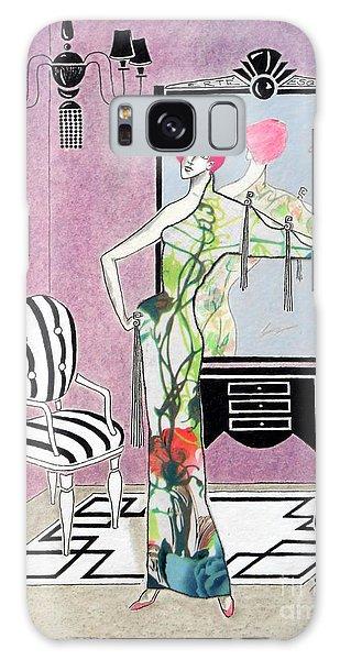 Erte'-esque -- Art Deco Interior W/ Fashion Figure Galaxy Case