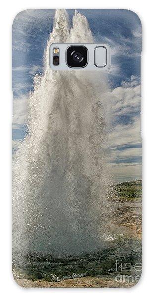 Erupting Geyser In Iceland Galaxy Case