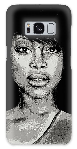 Erykah Baduism - Pencil Drawing From Photograph - Charcoal Pencil Drawing By Ai P. Nilson Galaxy Case