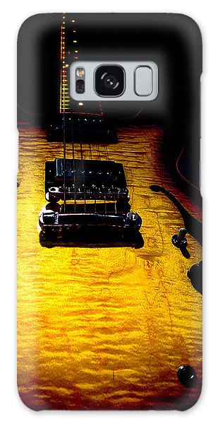 Galaxy Case featuring the digital art Es-335 Dots Flame Burst Spotlight Series by Guitar Wacky