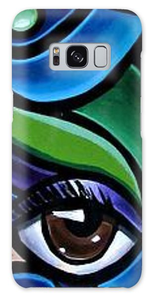 Colorful Abstract Art Painting, Modern Art Brown Eye Art Paintings Galaxy Case