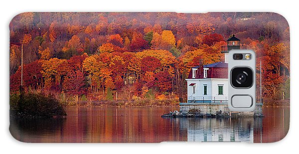 Esopus Lighthouse In Late Fall #1 Galaxy Case by Jeff Severson