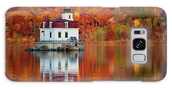 Esopus Lighthouse In Late Fall #2 Galaxy Case by Jeff Severson