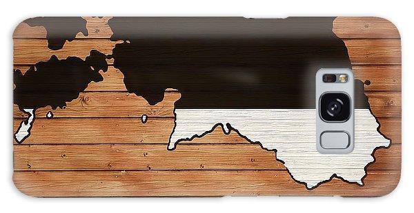 Traveler Galaxy Case - Estonia Rustic Map On Wood by Dan Sproul