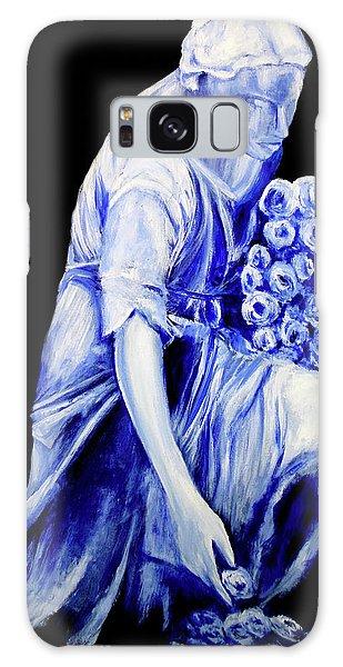 Flower Girl In Blue Galaxy Case