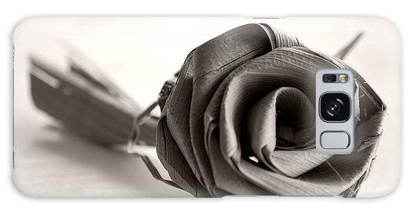 Eternal Rose In Sepia Galaxy Case