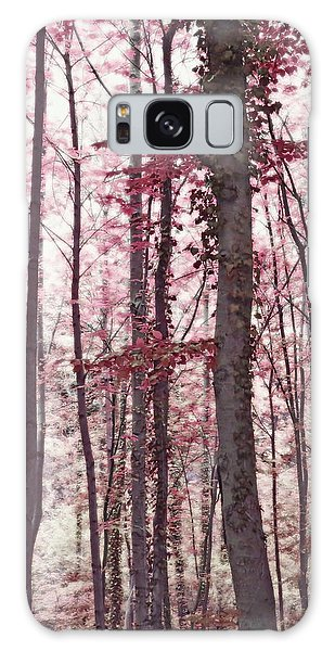 Ethereal Austrian Forest In Marsala Burgundy Wine Galaxy Case