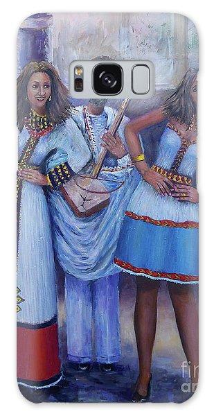 Ethiopian Ladies Shoulder Dancing Galaxy Case