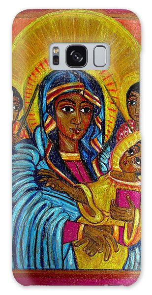 Ethiopian Madonna And Child Jesus Galaxy Case